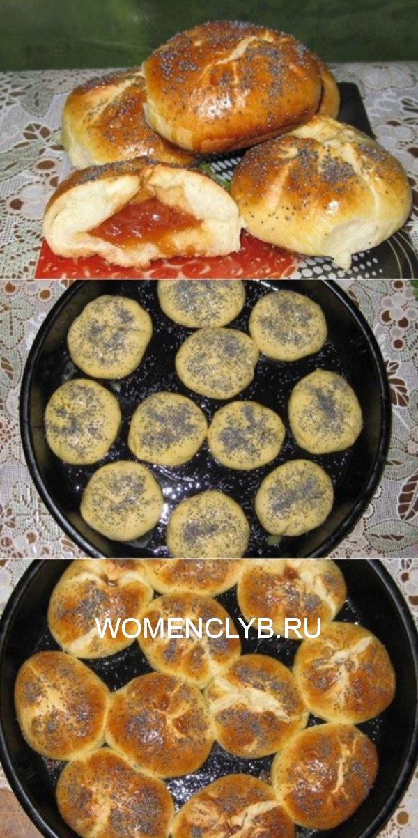 Ароматные булочки с повидлом — блюдо вне времени. Вкусные и нежные, они дарят ощущение детства. И намного лучше покупных, попробуйте сами!