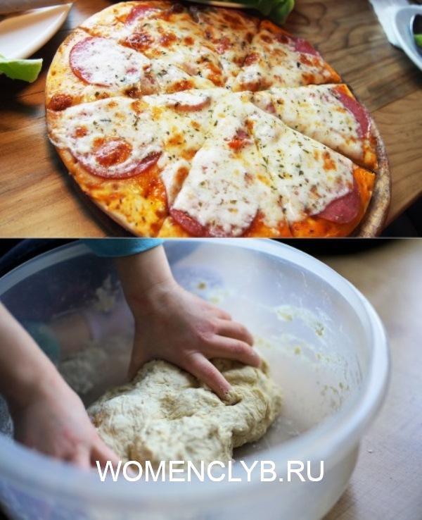 На ужин - пицца! Тонкое тесто и богатая начинка