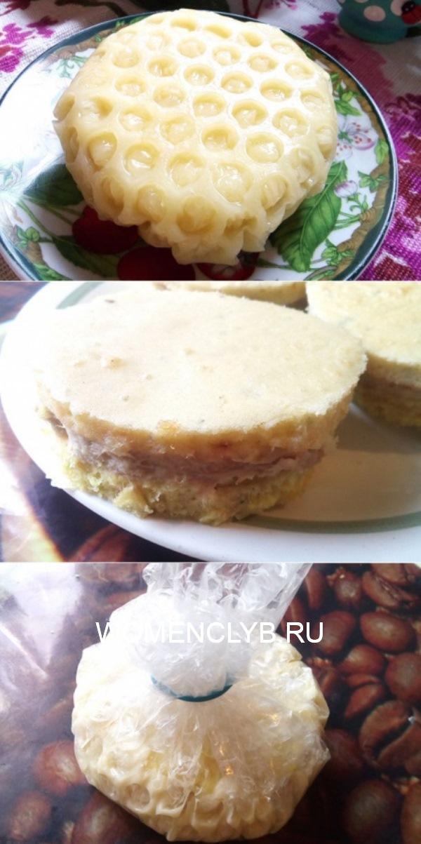 Закусочные пирожные с сыром   Эта закуска украсит любой праздничный стол. Она выглядит очень празднично, красиво. Невероятно, сырно и вкусно.