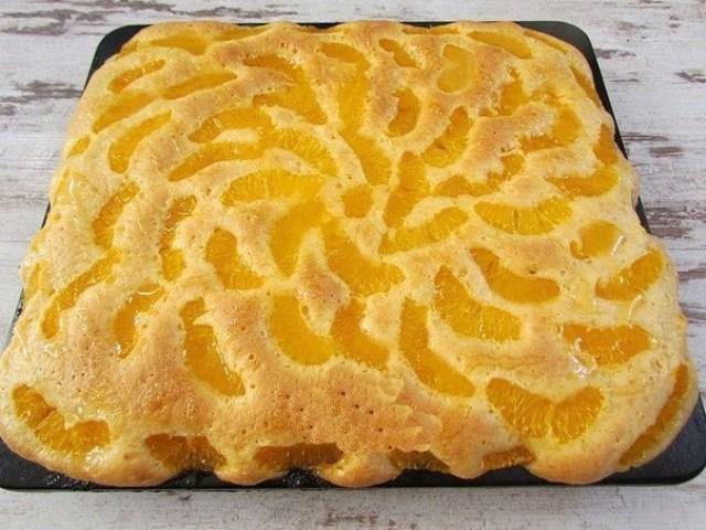 Пирог «Мандариновые облака». Очень нежный, очень вкусный, настоящее чудо!