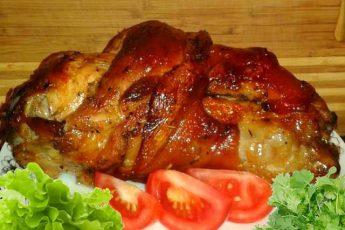 РУЛЬКА В СОЕВОМ МАРИНАДЕ. Корочка РУМЯНАЯ, мясо НЕЖНОЕ и СОЧНОЕ, аромат по всей кухне – В ВОСТОРГЕ ВСЕ!