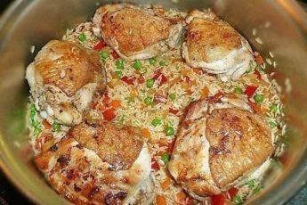 Рис с курицей — Arroz con pollo. Делаю частенько! Моим очень нравится!