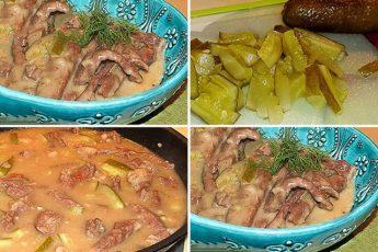 Рецепт моей молодости. Тушеная говядина с солеными огурцами