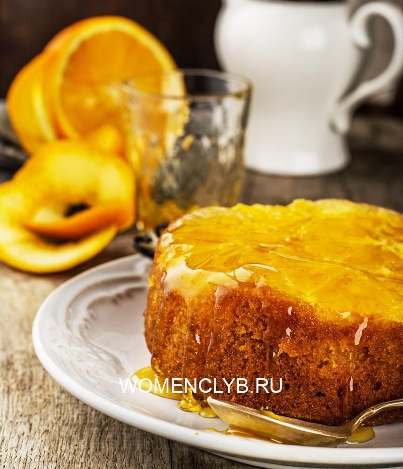 orange-upside-down-cake-with-sweet-syrup